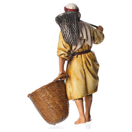 Fisherman, nativity figurine, 13cm Moranduzzo 2