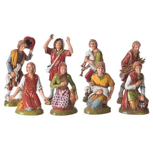 Characters, 8 nativity figurines, 10cm Moranduzzo 1
