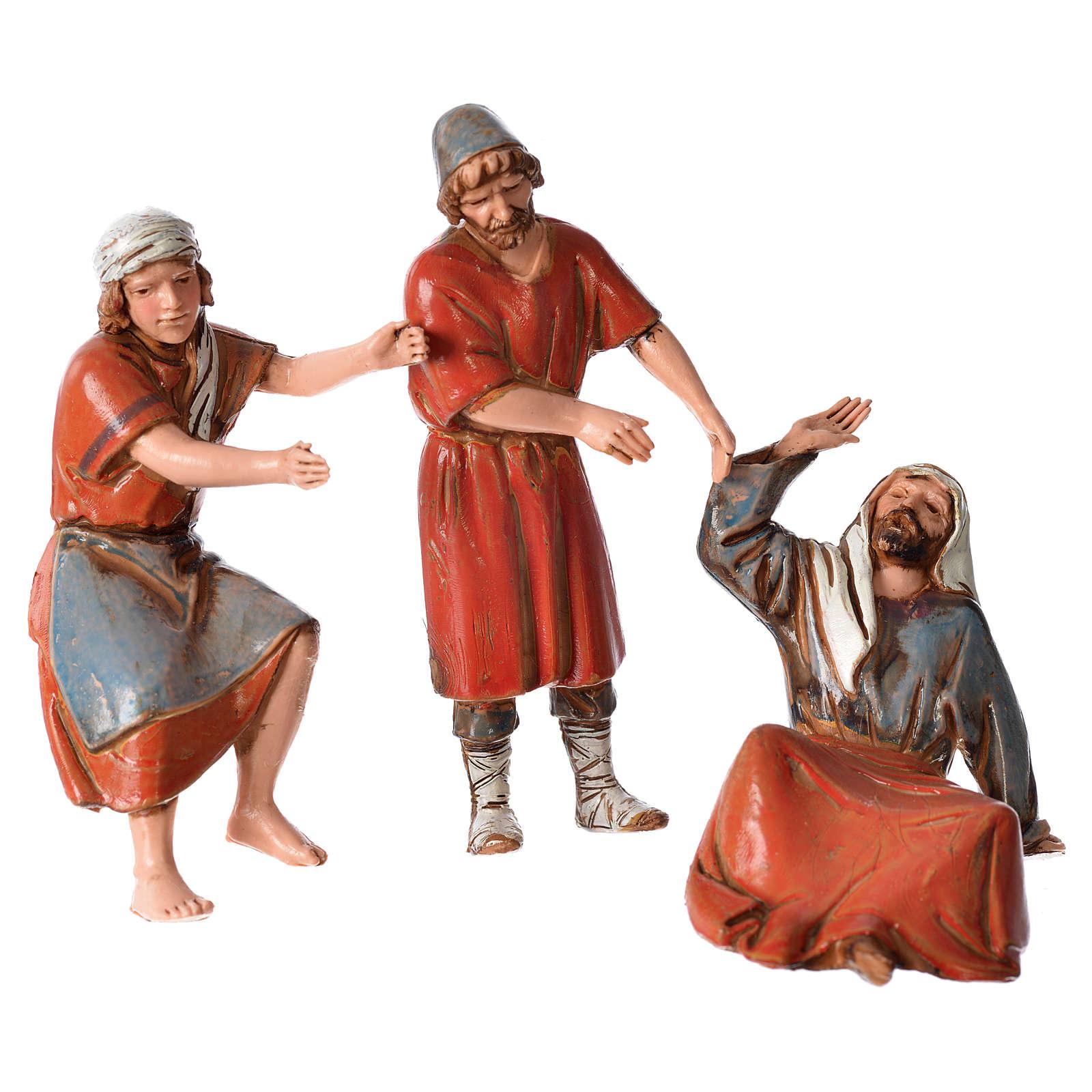 Ceramista, pedreiro e pastor para presépio Moranduzzo com figuras de  altura média 10 cm 4