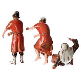 Ceramista, pedreiro e pastor para presépio Moranduzzo com figuras de  altura média 10 cm s2