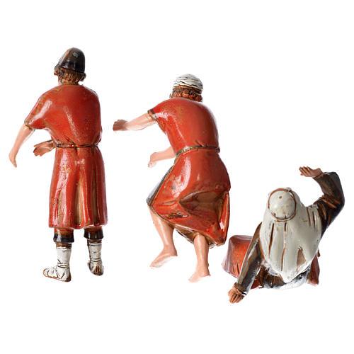 Ceramista, pedreiro e pastor para presépio Moranduzzo com figuras de  altura média 10 cm 2