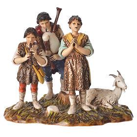 Bergers musiciens avec chèvre 10 cm Moranduzzo s1