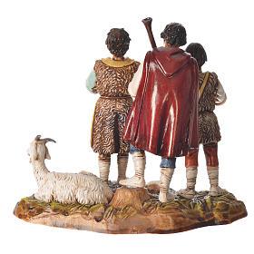 Scene with shepherds with goat, nativity figurines, 10cm Moranduzzo s2