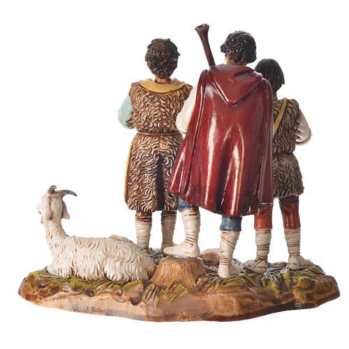 Scene with shepherds with goat, nativity figurines, 10cm Moranduzzo 2