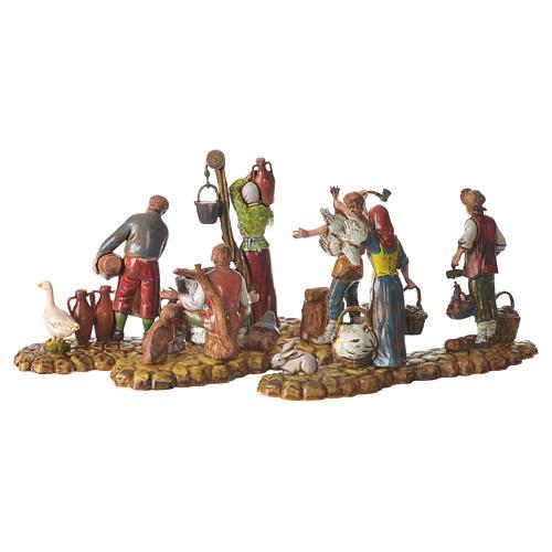 Scene with 3 shepherds, nativity figurines, 10cm Moranduzzo 5