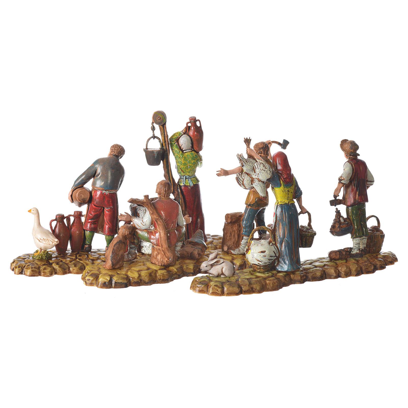 Escenas 3 figuras pastores 10 cm Moranduzzo 4