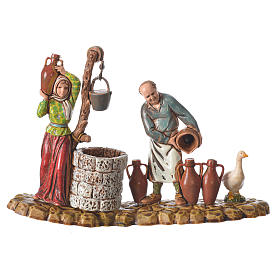 Escenas 3 figuras pastores 10 cm Moranduzzo s4
