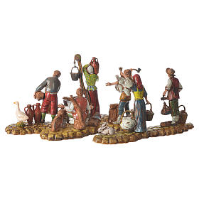 Escenas 3 figuras pastores 10 cm Moranduzzo s5