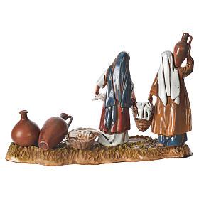 Scene with women and jugs, nativity figurines, 10cm Moranduzzo s2