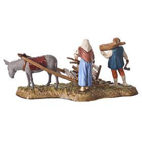 Scene of wood collection, nativity figurines, 10cm Moranduzzo s3