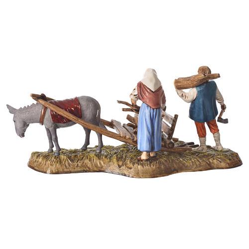 Scene of wood collection, nativity figurines, 10cm Moranduzzo 3