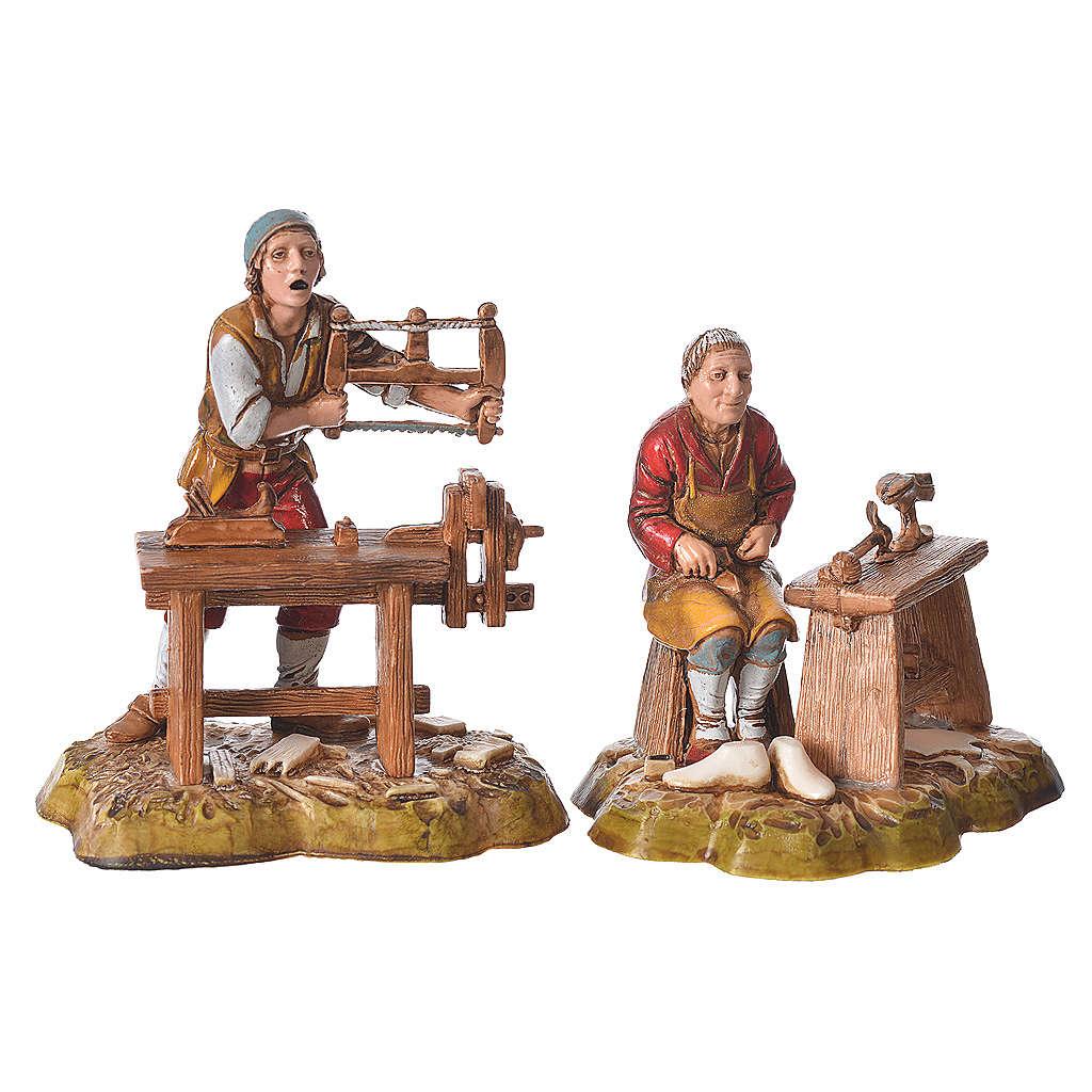 Profesiones 4 figuras 10 cm belén Moranduzzo 4