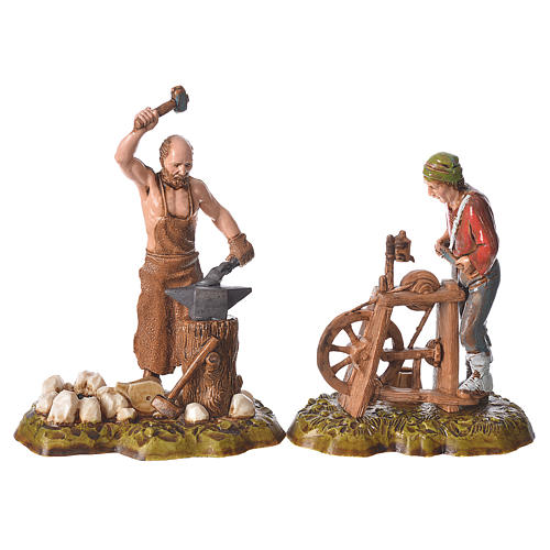 Arts and trades, 4 nativity figurines, 10cm Moranduzzo 2