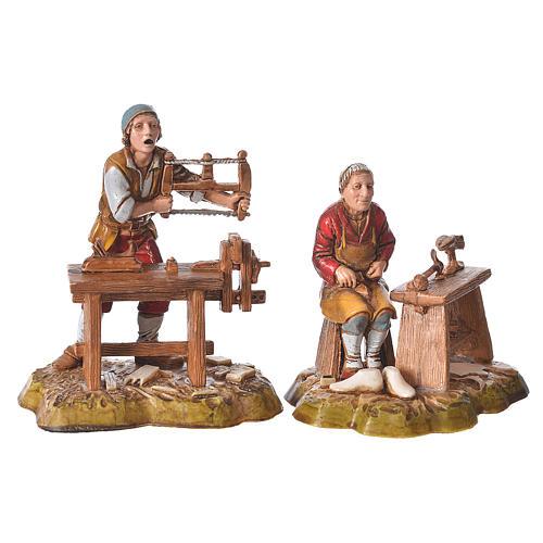 Arts and trades, 4 nativity figurines, 10cm Moranduzzo 3