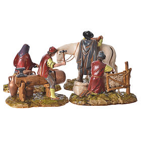 Trades scene, 4 pcs for nativities of 10cm by Moranduzzo s4