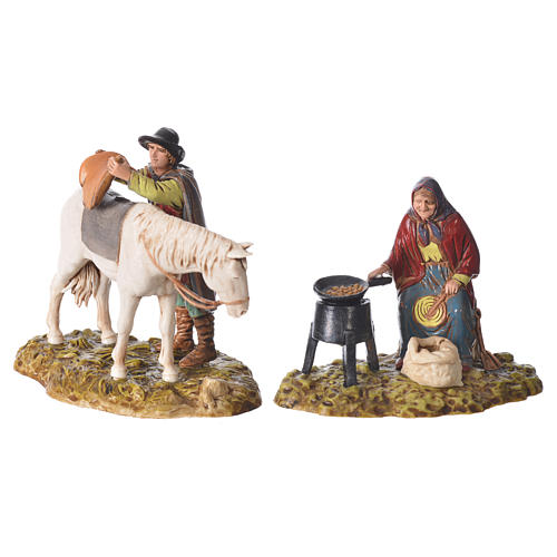 Trades scene, 4 pcs for nativities of 10cm by Moranduzzo 2