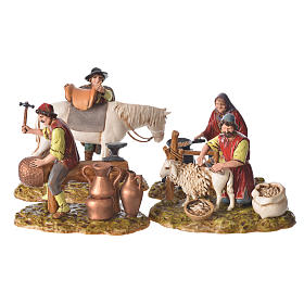 Trades scene, 4 pcs for nativities of 10cm by Moranduzzo s1