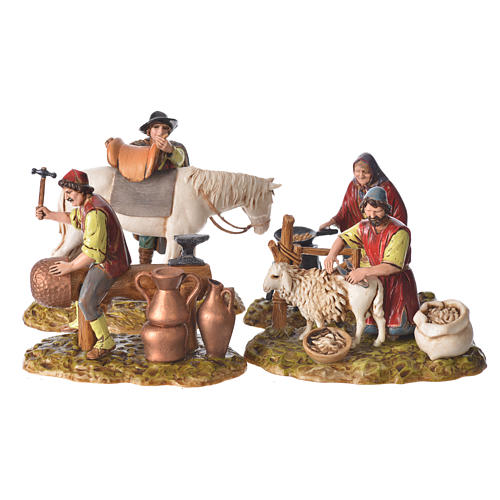 Trades scene, 4 pcs for nativities of 10cm by Moranduzzo 1