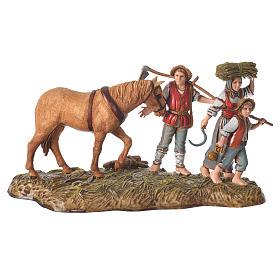 Escena campesinos con caballo 10 cm Moranduzzo s1