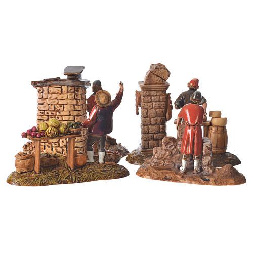 Composition with 4 nativity figurines, 10cm Moranduzzo 6
