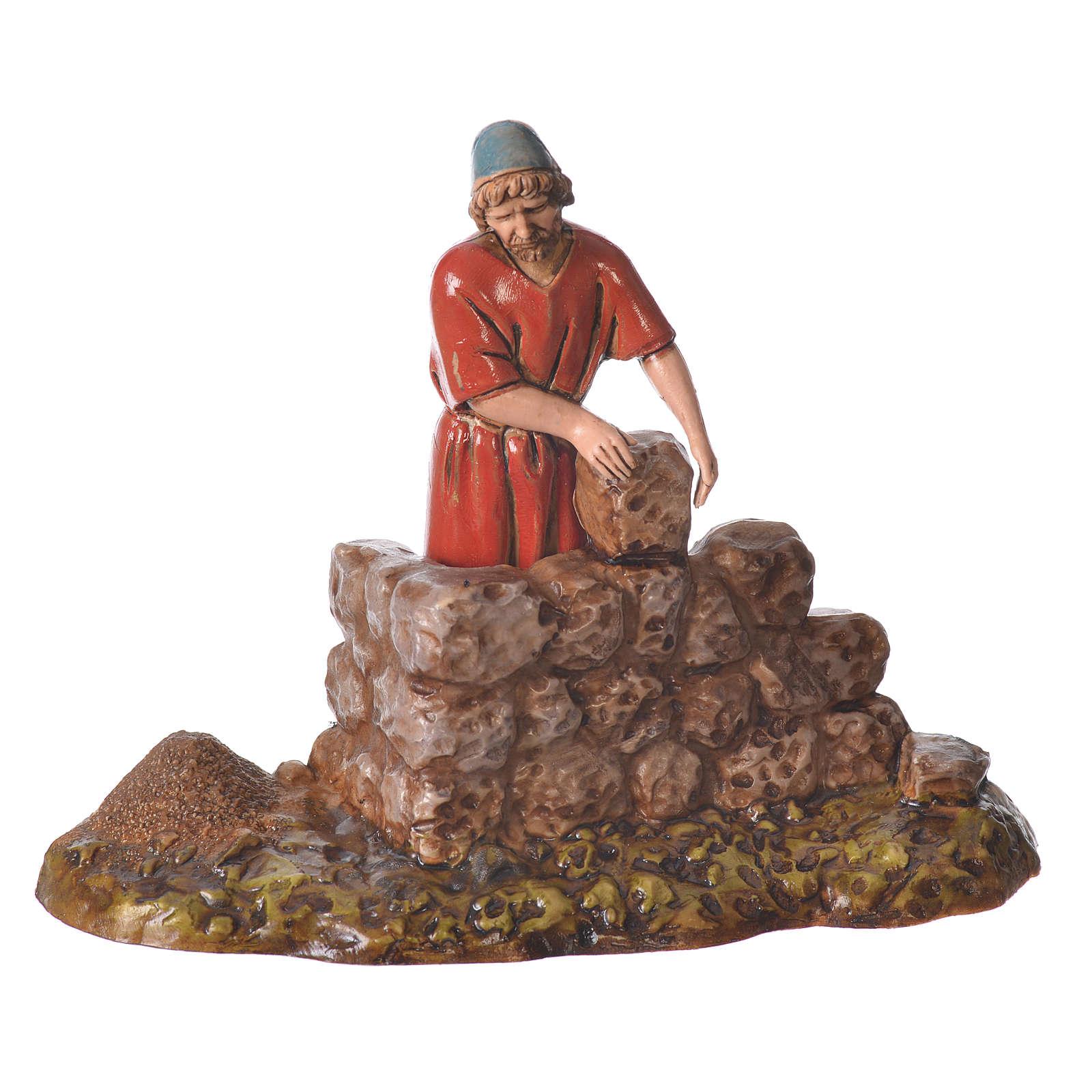 Composition with 4 nativity figurines, 10cm Moranduzzo 4