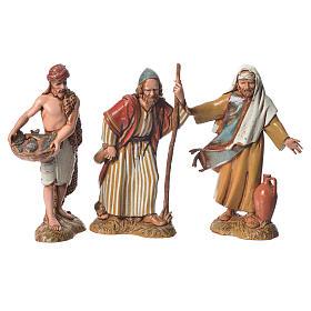 Shepherds with historic costumes, 8 nativity figurines, 10cm Moranduzzo s2