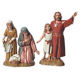 Shepherds with historic costumes, 8 nativity figurines, 10cm Moranduzzo s4