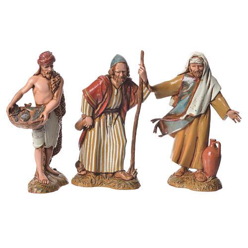 Shepherds with historic costumes, 8 nativity figurines, 10cm Moranduzzo 2