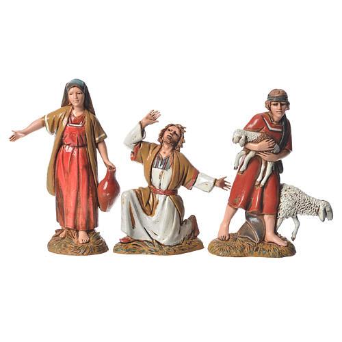 Shepherds with historic costumes, 8 nativity figurines, 10cm Moranduzzo 3