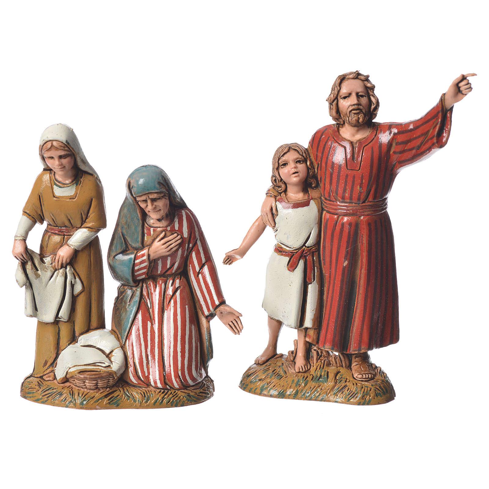 Pastores con trajes de época 10 cm 8 figuras Moranduzzo 4