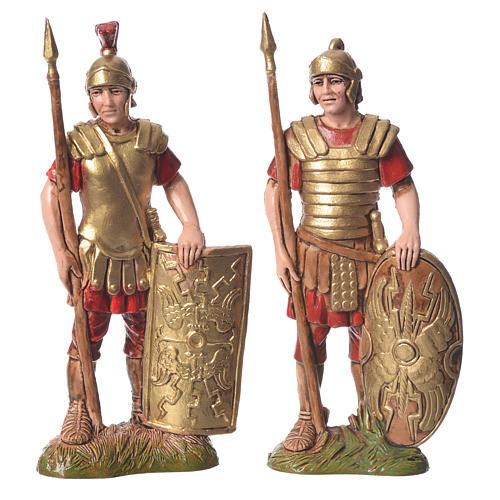 Rei Herodes com soldados presépio Moranduzzo com figuras de  altura média 10 cm 4 peças 2