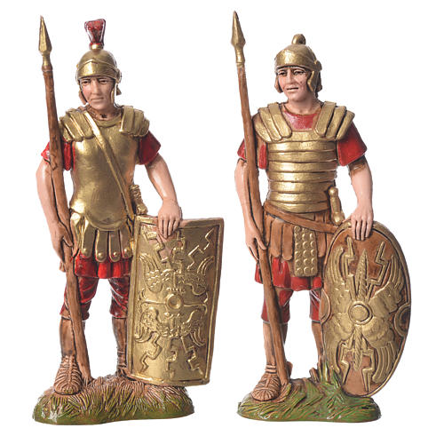 King Herod with soldiers, 4 nativity figurines, 10cm Moranduzzo 2