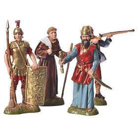 Assorted characters, 4 nativity figurine, 10cm Moranduzzo s1