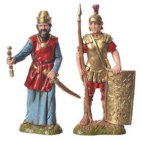 Assorted characters, 4 nativity figurine, 10cm Moranduzzo s3