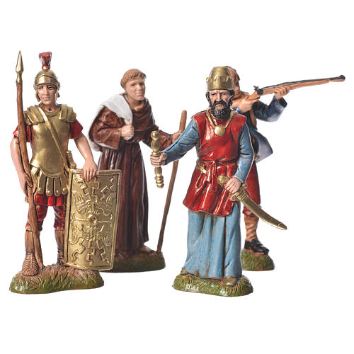 Assorted characters, 4 nativity figurine, 10cm Moranduzzo 1
