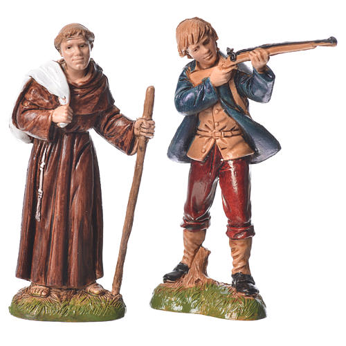 Assorted characters, 4 nativity figurine, 10cm Moranduzzo 2