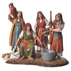 Women at the market, 2 nativity figurine, 10cm Moranduzzo s1