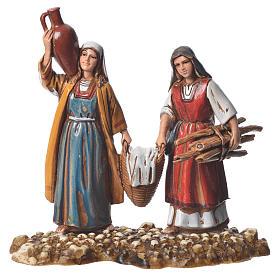 Women at the market, 2 nativity figurine, 10cm Moranduzzo s2