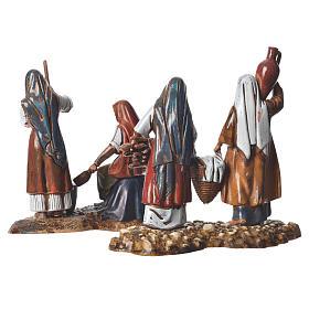 Women at the market, 2 nativity figurine, 10cm Moranduzzo s4