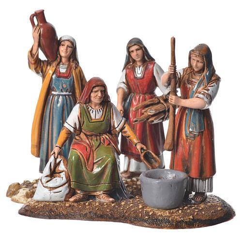 Women at the market, 2 nativity figurine, 10cm Moranduzzo 1