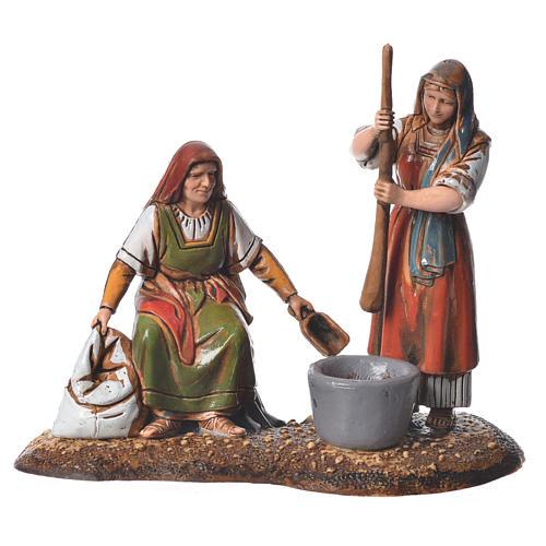 Women at the market, 2 nativity figurine, 10cm Moranduzzo 3
