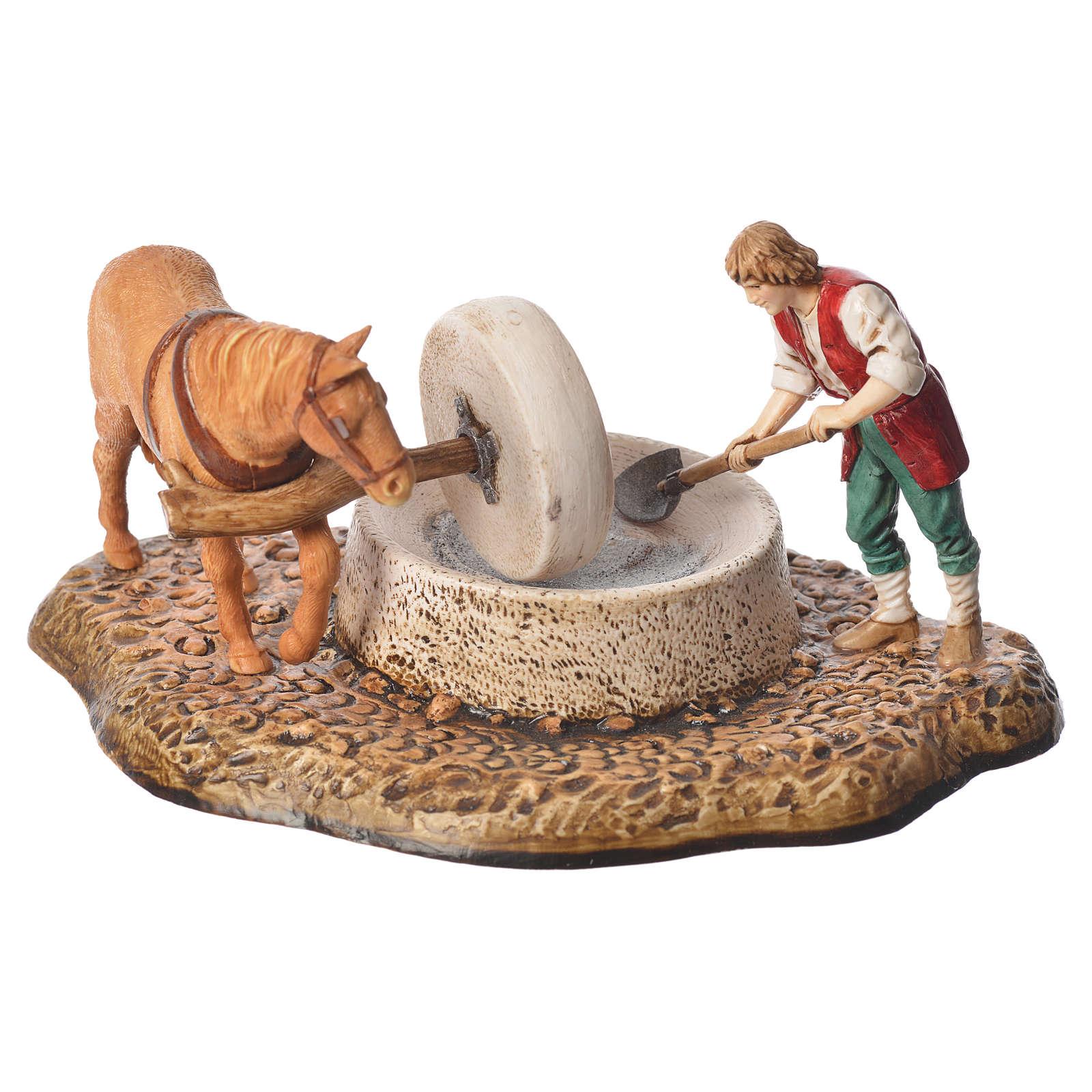 Grinder scene, nativity figurine, 10cm Moranduzzo 4