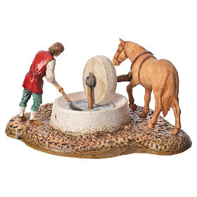 Grinder scene, nativity figurine, 10cm Moranduzzo s2