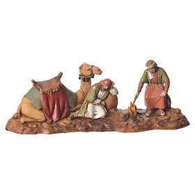 Women at the well and camel drivers, 2 nativity figurine, 10cm Moranduzzo s2
