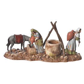 Women at the well and camel drivers, 2 nativity figurine, 10cm Moranduzzo s3