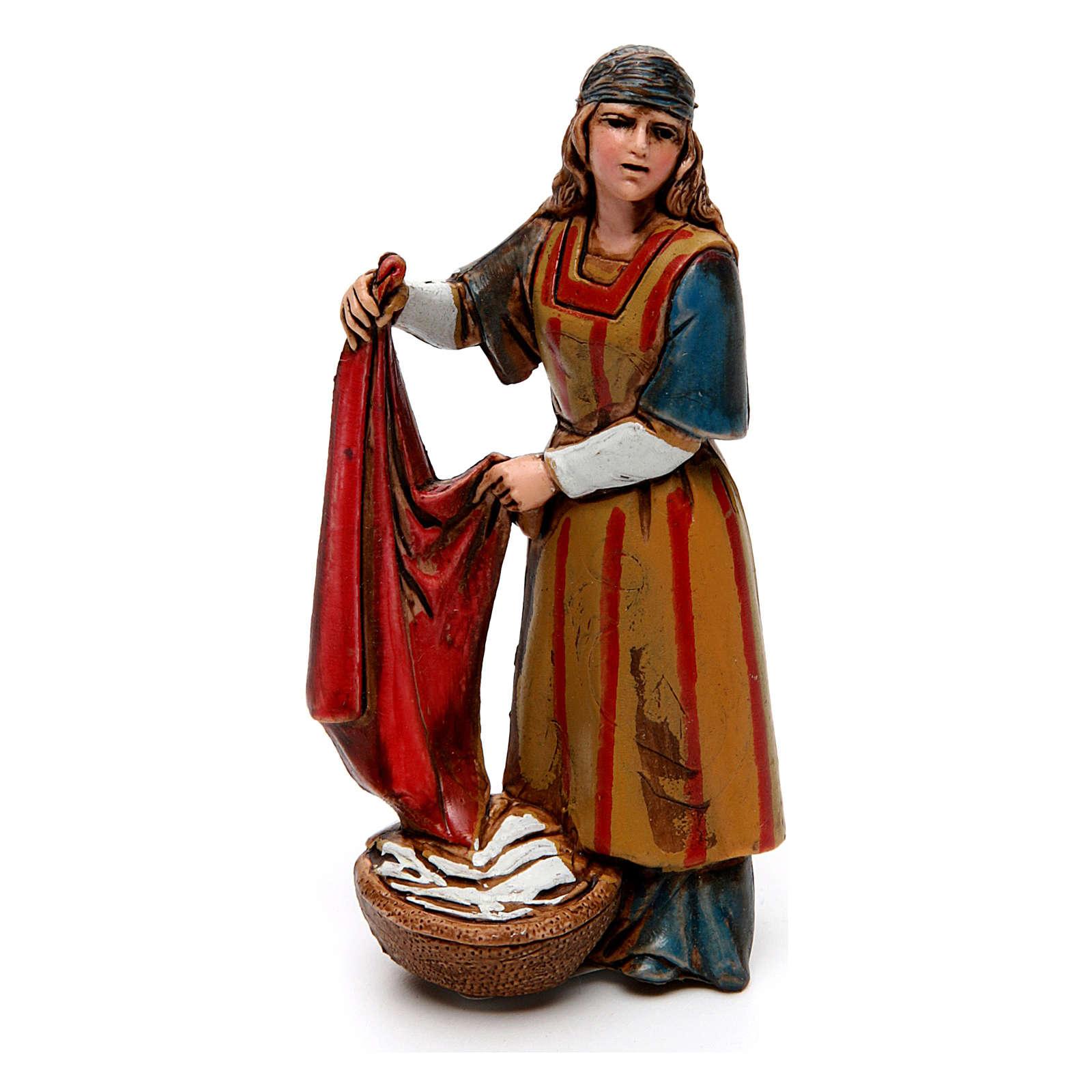 Neapolitan customs and trades, 3 nativity figurine, 10cm Moranduzzo 4