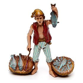 Neapolitan customs and trades, 3 nativity figurine, 10cm Moranduzzo s2