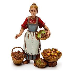 Ofícios costumes napolitanos 3 peças para presépio Moranduzzo figuras altura média 10  cm s3