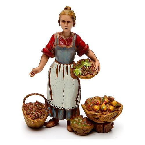 Ofícios costumes napolitanos 3 peças para presépio Moranduzzo figuras altura média 10  cm 3