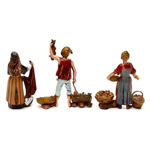 Ofícios costumes napolitanos 3 peças para presépio Moranduzzo figuras altura média 10  cm 5